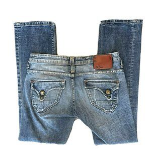 G Star Raw Jeans Womens 28x28 Crop Ankle Flap Pock